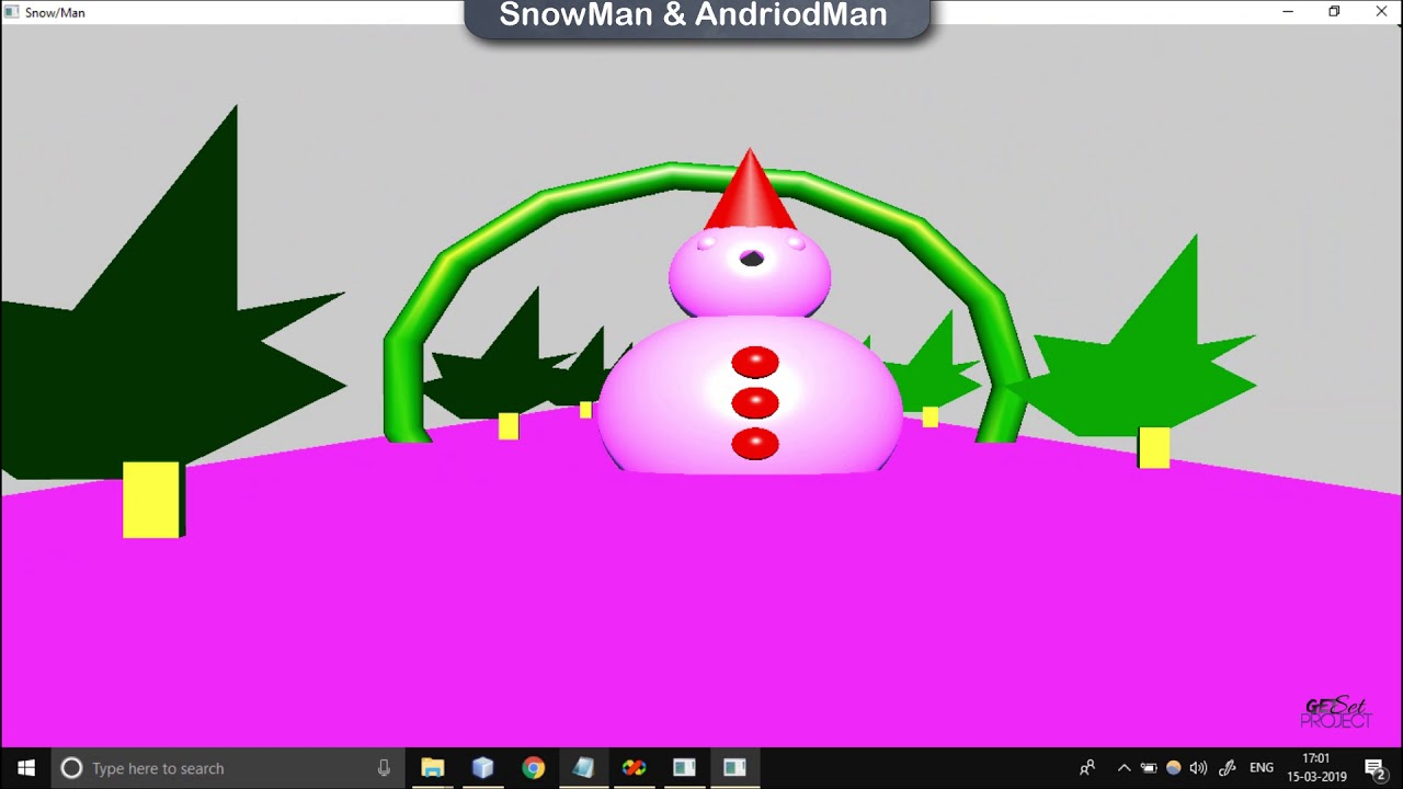 SnowMan And AndroMan CG project using OpenGL