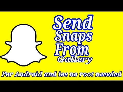 How To Send Snaps Form Gallery | Android And Ios| No App Needed