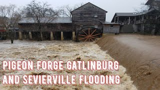 Pigeon Forge Floods Old Mill River