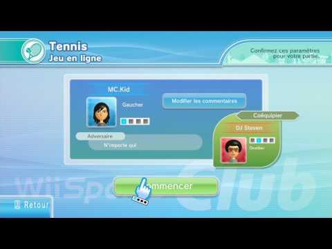 Wii Sport Club - Wii U - Tennis Part 1 (Played by MC.Kid & DJ Super Steven) - (Bootleg Video)