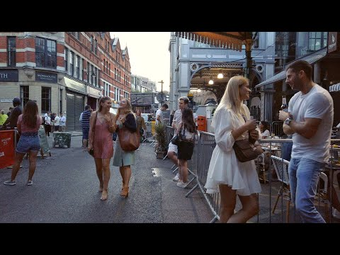 LIVELY FRIDAY EVENING at BOROUGH MARKET, LONDON - Al Fresco Dining Post-Lockdown 2020