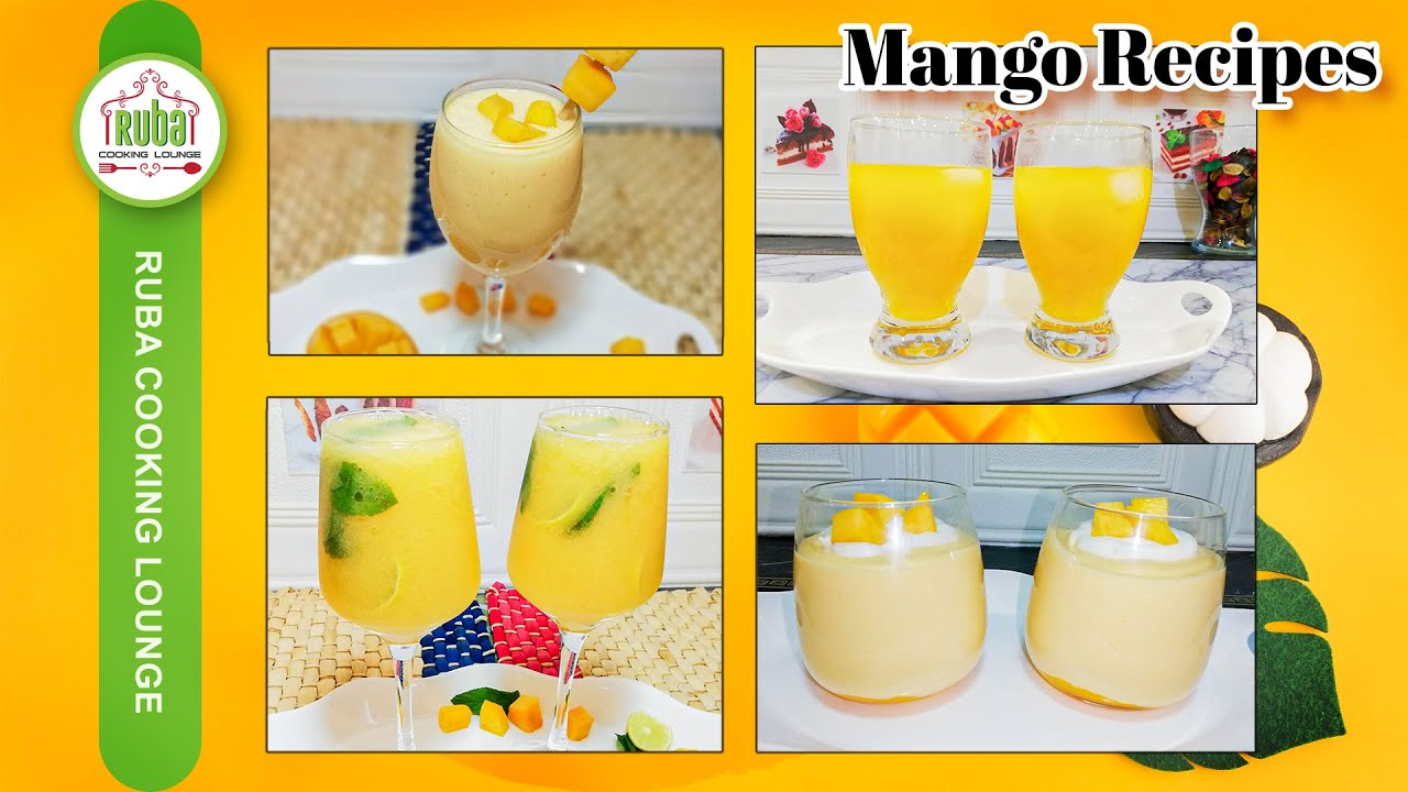 Tasty and Refreshing Mango Recipes | Mango Recipes by Ruba Cooking Lounge (Summer Special)