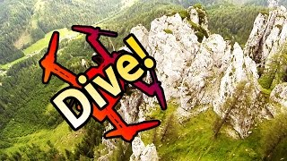 Awesome Quadcopter Dives in beautiful Mountains (RCSchim narrated FPV)
