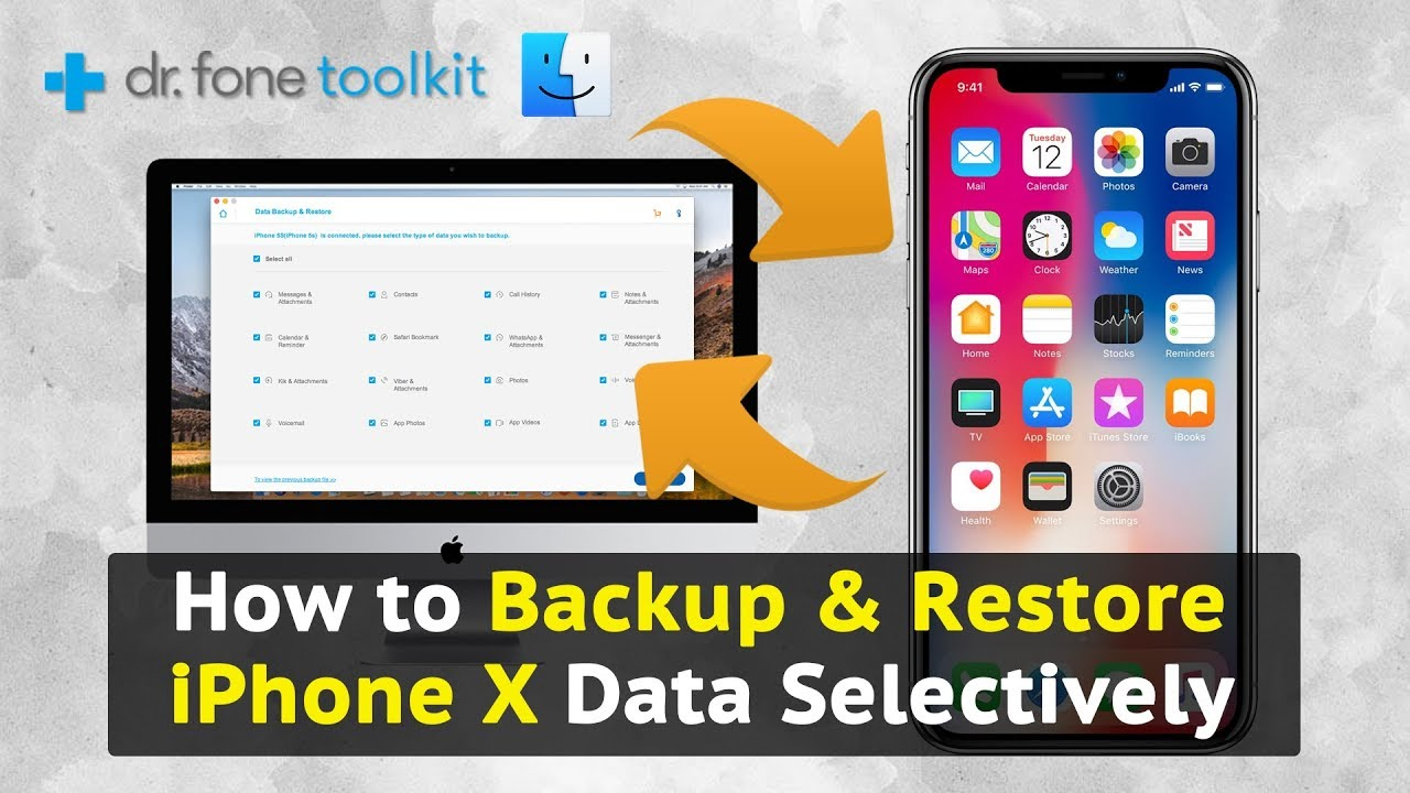 how to save data on iphone how to backup amp restore iphone x data selectively 19048