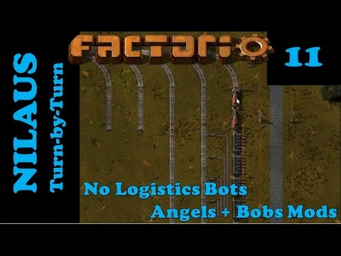 Lets Play Factorio S6E11 - Engines and Main Train station