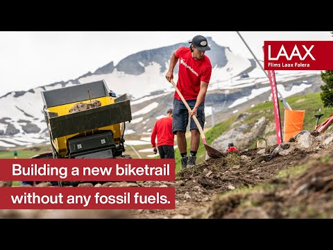 World's first fully electric built Mountain Bike Trail: The Nagens Trail    Part 1   Biketrails LAAX