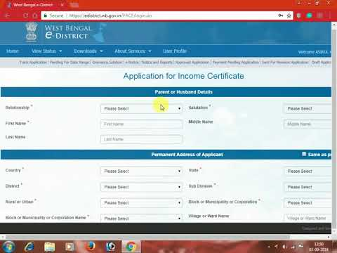 How to Apply B D O Income certificate