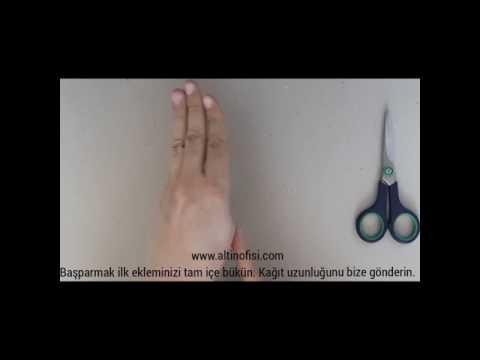 BİLEZİK ÖLÇÜSÜ NASIL ALINIR. www.altinofisi.com