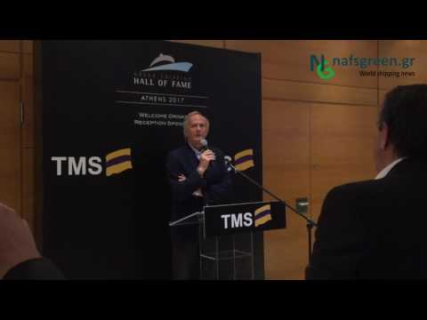 George Economou - TMS, during Greek Shipping Hall of fame 2017