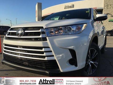 2018 Toyota Highlander LE V6 AWD Review Brampton ON - Attrell Toyota