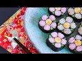 How to make Decoration rolled sushi/Art sushi roll recipe - Japanese food【飾り…