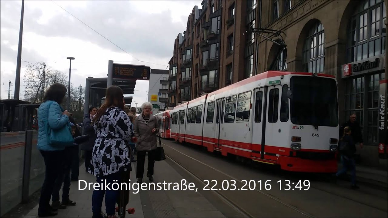 03 Straßenbahnenbusse Krefeld Am 2232016 Youtube