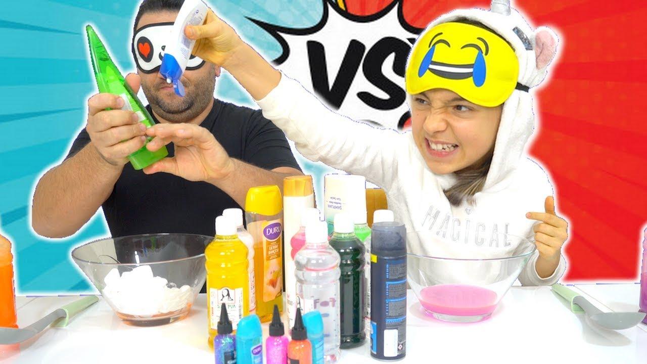 Gozu Kapali Hileli Slime Challenge Oyuncax Tv Youtube