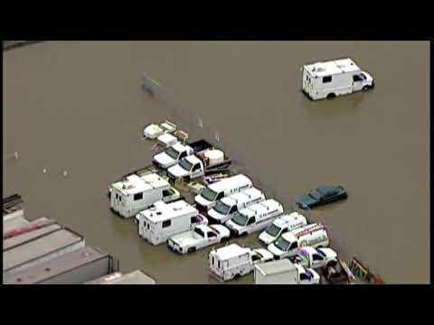 Air Tracker 5 over flooding in the Akron area