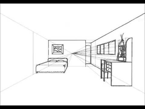 How To Design One Point Perspective Room Tutorial Hd