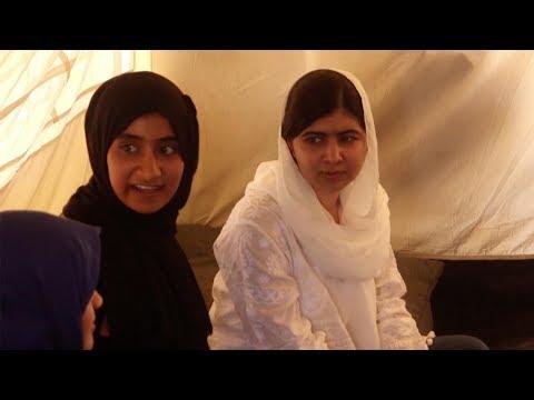 Malala Yousafzai visits displaced children in Iraq