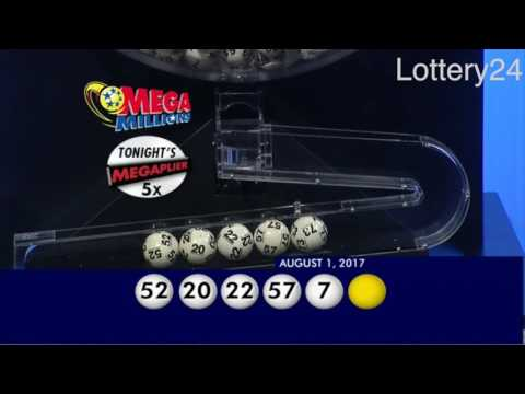 2017 08 01 Mega Millions Numbers and draw results