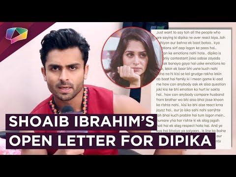 Shoaib Ibrahim's OPEN LETTER On Dipika & Romil's Fight In Bigg Boss 12