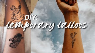 DIY: temporary tattoos using printer paper and ink!
