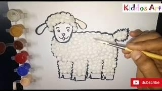 #DIY Art # How to make cotton ball Sheep / cotton craft