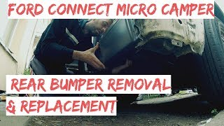 Ford Connect Rear Bumper Removal & Replacement - How To Remove Connect Rear Bumper