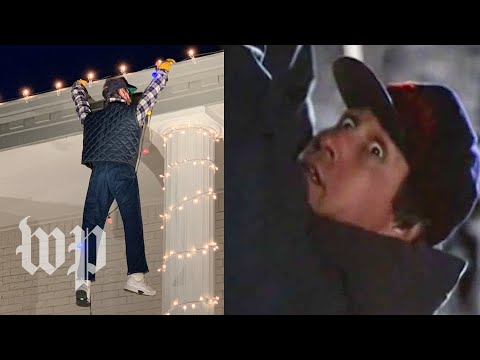Man mistakes fake Clark Griswold decoration for real man hanging from roof