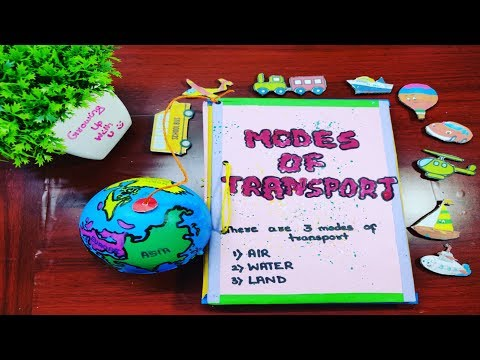 How to make modes of transport project l Modes of transport show n tell