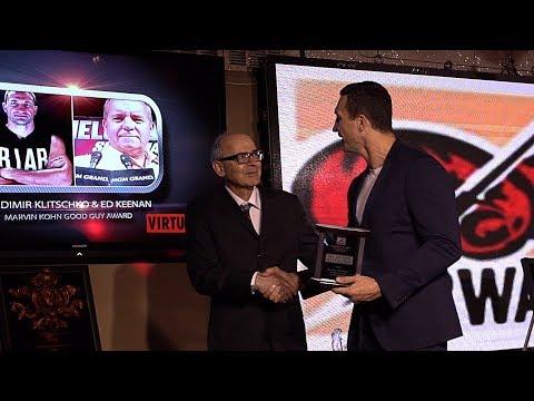 BWAA Awards. Speech by Wladimir Klitschko.
