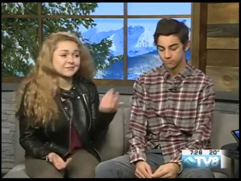 Vail Mountain School Sophia Nisonoff & Cameron Bill  04.5.17 Good Morning Vail