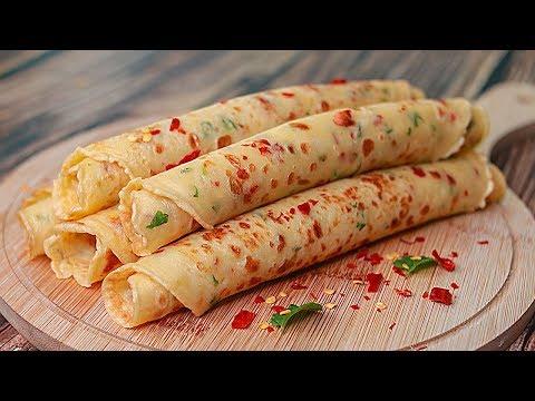 Spicy Crepe Paratha | 5 Mins Easy Breakfast Recipe | Easy Snacks Recipe | Toasted Breakfast Videos
