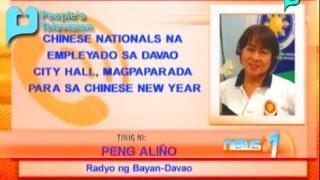 Chinese nationals na empleyado sa Davao City Hall, magpaparada para sa Chinese New Year