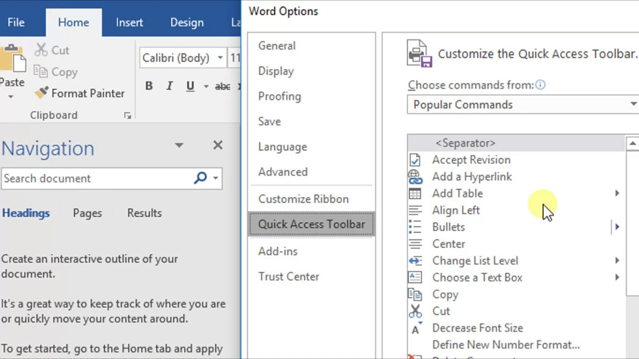 Enable Text to speech[Speak] Option in Microsoft Word 2016 [Tutorial] - HOW  TO