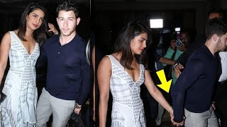 Priyanka Chopra and Nick Jonas hand in hand before their engagement party tomorrow |😍