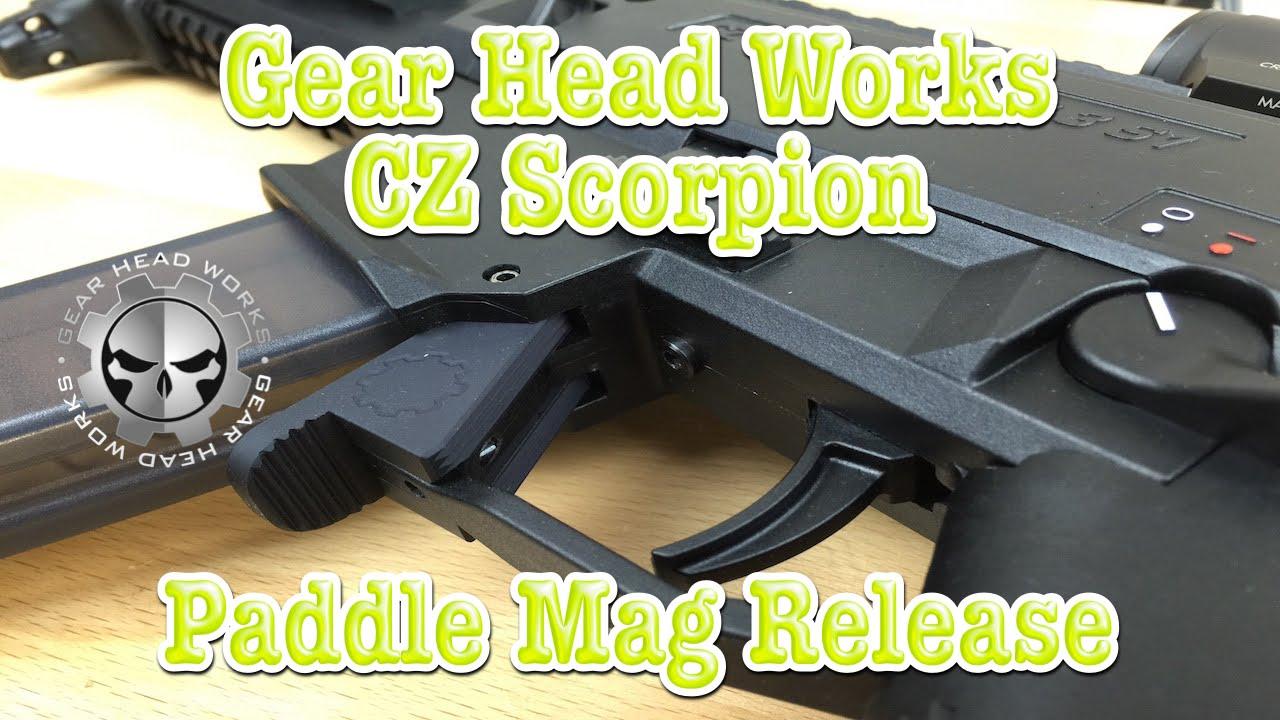 CZ Scorpion Paddle Magazine Release By Gear Head Works