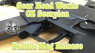 CZ Scorpion Paddle Magazine Release By Gear Head Works