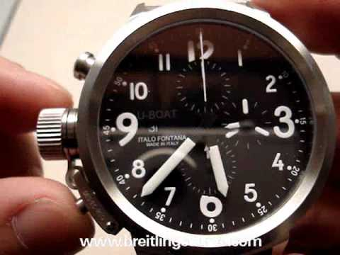 59e7236d258 U-Boat Flightdeck Chronograph 50mm Automatic Watch Review - YouTube