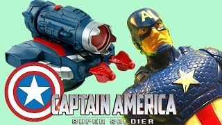 CAPTAIN AMERICA toy arm shooter! Unboxing and Review