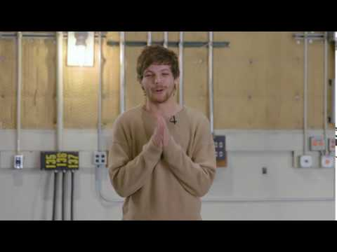 Louis Tomlinson wishing everyone a Happy Valentines Day on iHeartRadio - 2.12.17