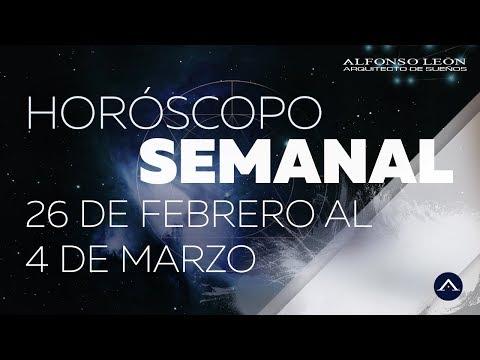 HORÓSCOPO SEMANAL | 26 DE FEBRERO AL 4 DE MARZO | ALFONSO LEÓN ARQUITECTO DE SUEÑOS