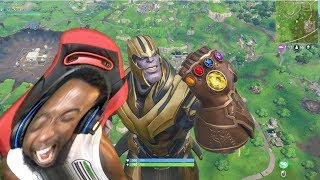 THIS FORTNITE LAG MADE ME RAGE QUIT IN THANOS MODE Fortnite Battle Royale