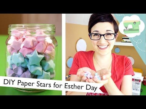 DIY Paper Stars for Esther Day | @laurenfairwx