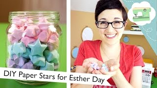 DIY Paper Stars for Esther Day   @laurenfairwx
