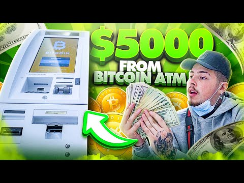 Withdrawing $5,000 CASH from a BITCOIN ATM!! | Turning Bitcoin into Cash!!