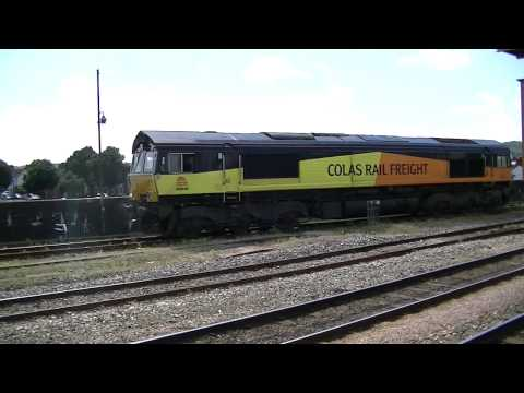 Colas 66846 arriving at Cardiff Riverside