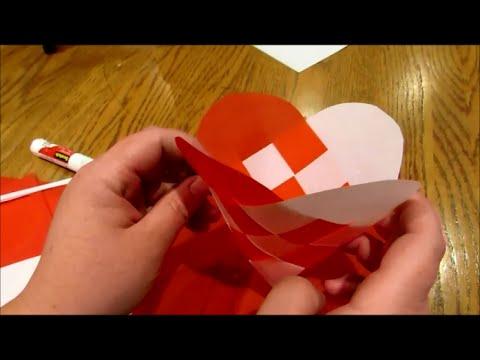 How to Make Julehjerter - woven Danish hearts (ornament baskets)