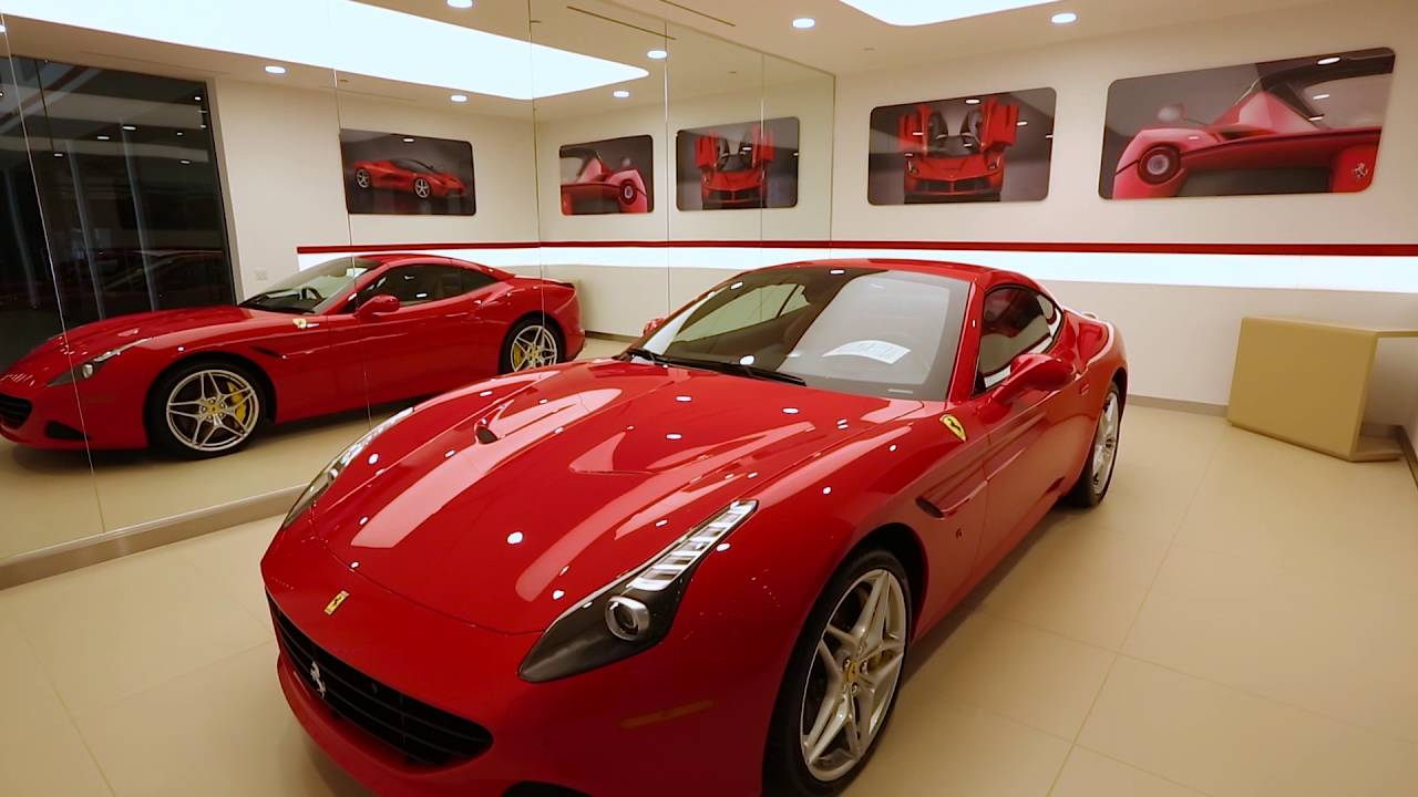 welcome to our new showroom ferrari of newport beach. Black Bedroom Furniture Sets. Home Design Ideas