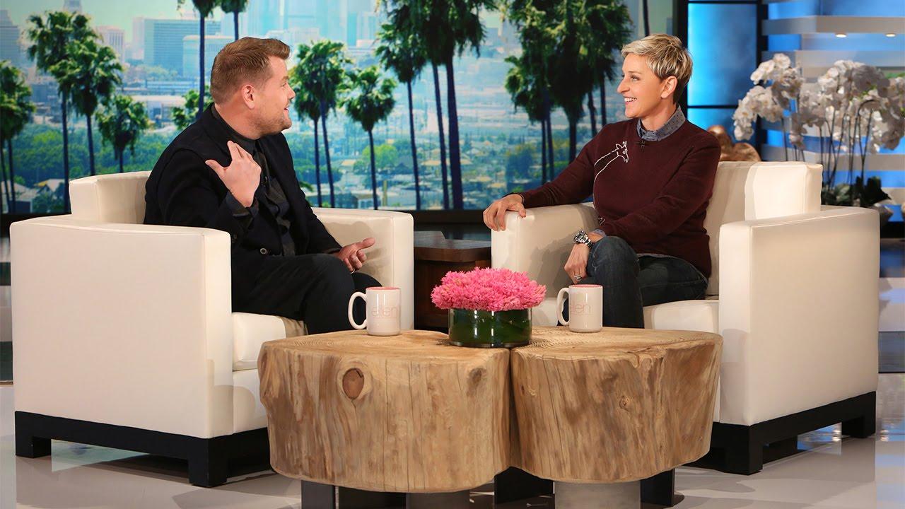 James Corden Visits with Ellen