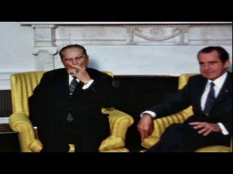 Josip Broz TITO zapalio i puši tompus u Bijeloj kući, Sjedinjene Američke Države 1971