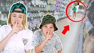 SPYING ON OUR MOM IN PUBLIC! *caught HER out*