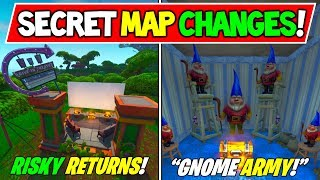 "*NEW* FORTNITE SECRET MAP CHANGES v10.00 ""Risky & Moisty Return!"" + Gnome Army - Season 10 Storyline"